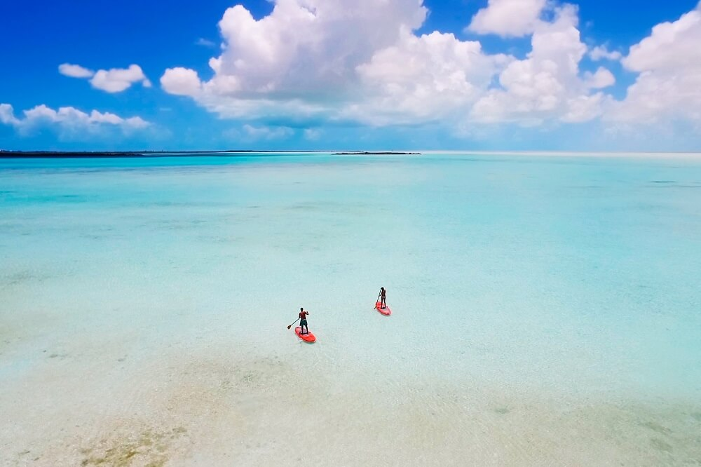 Paddle Boarding in Turks & Caicos