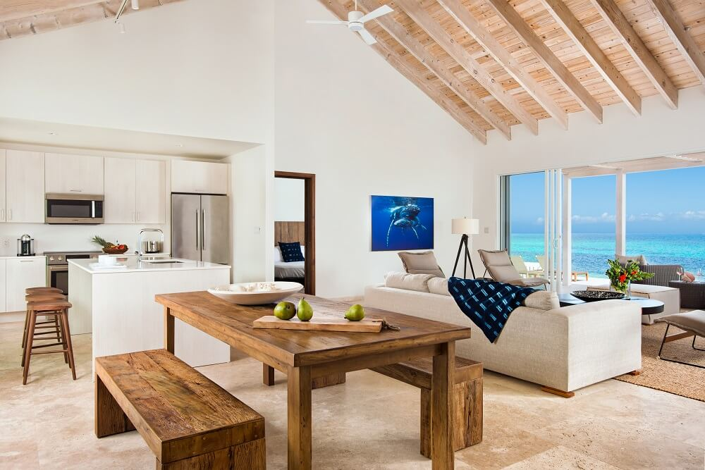 Turks and Caicos Beachfront Villa Dining Room