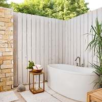 Sailrock Resort-Beachfront Villas-Outdoor Shower Garden-1
